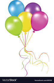 bunch of balloons bunch of balloons royalty free vector image vectorstock