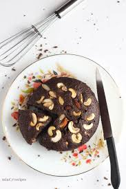 chocolate rava cake made with semolina suji with step by step