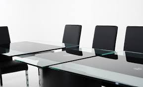 Black Glass Extending Dining Table Black Glass Extending Dining Table Yoadvice Com
