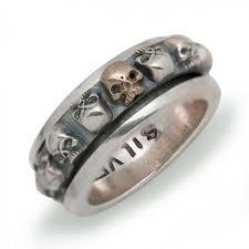 mens skull wedding rings vintage men skull dimineering words 925 sterling silver ring