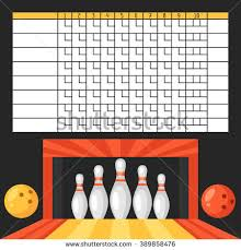Ten Pin Bowling Sheet Template Bowling Stock Images Royalty Free Images Vectors