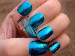 new flow nail decorations nail foils in blue nail art