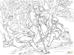 naaman story coloring pages printable bible floating axe