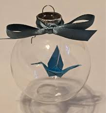 origami crane glass ornament by acorngrove on etsy acorn grove