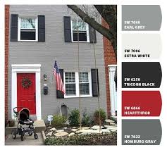 front door colors for gray house beautiful gray house red front door with best 25 gray exterior