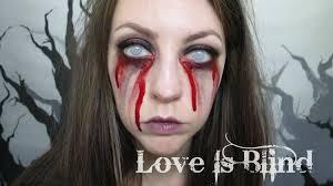 love is blind u0027 bleeding eyes halloween makeup youtube