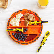 construction plate u0026 utensils kids plates dinner ideas for kids