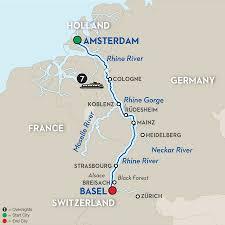 Black Forest Germany Map Romantic Rhine Festive River Cruise Avalon Europe