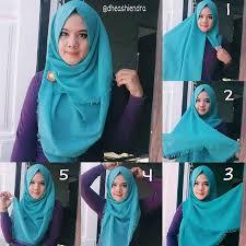 tutorial hijab segi empat paris simple 30 cara memakai jilbab segi empat terbaru remaja update remaja