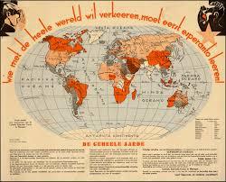 Antique World Map by World Map In Esperanto Rare U0026 Antique Maps