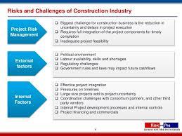 Challenge Risks Riskpro Construction Industry