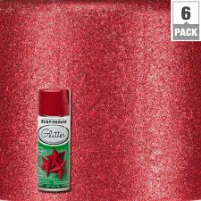 rust oleum specialty 10 25 oz red glitter spray paint 6 pack