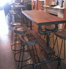 Industrial Bar Table Industrial Farmhouse Bar Height Kitchen Table The Industrial