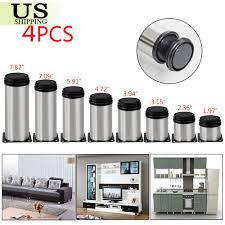 Adjustable Legs For Kitchen Cabinets 4 Pcs Stainless Steel Leg Round Metal Feet Adjustable Kitchen
