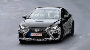 lexus rc f lexus spied prepping updated rc f possible engine update