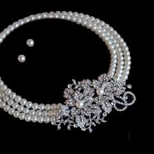 bridal necklace set pearl images Belle bridal l stunning vintage pearls crystals wedding jewelry jpg