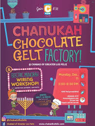 chanukah chocolate gelt chanukah chocolate gelt factory chabad of greater los feliz