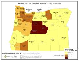 Maps Portland Oregon by Portland State College Of Urban U0026 Public Affairs Population