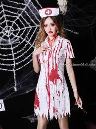 Nurse Halloween Costume Bloody Nurse Cosplay Halloween Costume Fancy Costume Mall