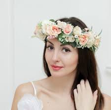 flower hairband bridal floral crown flower headband bridal headband flower