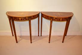 Half Moon Sofa Tables by Amazing Concept Of The Half Moon Console Table Home Decorations