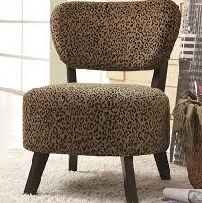 coaster leopard print accent chair