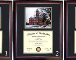 clemson diploma frame clemson frame etsy