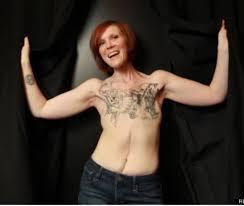 tattoos on a woman u0027s breast instead of mastectomy scars oddities