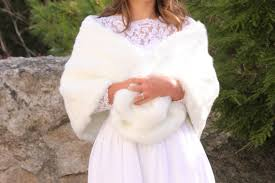 fur shawls for bridesmaids white faux fur stole bridesmaids fur shawl