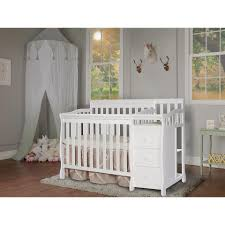 White 4 In 1 Convertible Crib by Dream On Me Jayden 4 In 1 Mini Convertible Crib And Changer