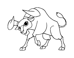 spanish fighting bull coloring coloringcrew