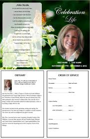 funeral program printing services funeral program template with butterfly more single fold