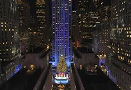 the rockefeller center tree from backyard to
