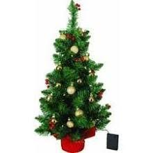 2 battery operated led tabletop tree with