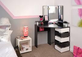 bureau d angle noir laqué coiffeuse design d angle coloris blanc et noir rivage commode et