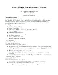exles or resumes financial analyst resume objective statement exle resumes