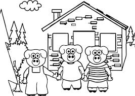 keys to literacy three little pigs coloring page wecoloringpage
