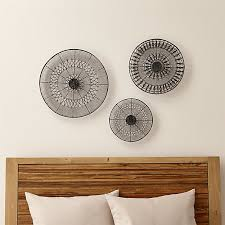 Crate And Barrel Wall Sconce Intricate Circle Metal Wall Art 3 Piece Set Crate And Barrel