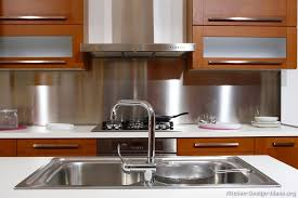 kitchen with stainless steel backsplash kitchen idea of the day stainless steel backsplash more