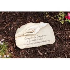 memorial stepping stones evergreen garden dog paw in devotion painted