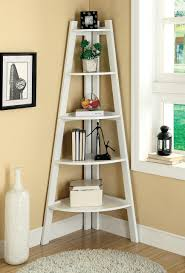 kitchen corner display cabinet furniture of america ladder shelf in white ac6214wh for 171