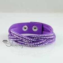 leather rhinestone bracelet images Woven genuine crystal rhinestones slake bracelets leather wrap jpg