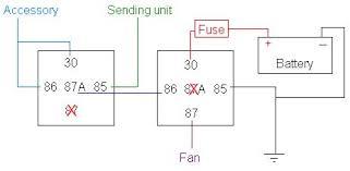 fan relay switch electric fan 4ac thermo switch to trigger e fan in 4ag