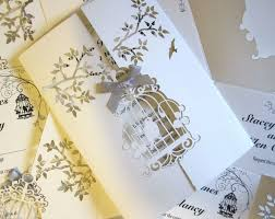 Wedding Invitation Insert Cards Wedding Invitation Laser Cut Bird Cage Insert U0026 Envelope 050