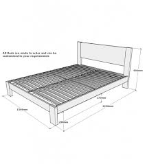 King Bed Frame Dimensions King Bed Frame Dimensions Decorate My House