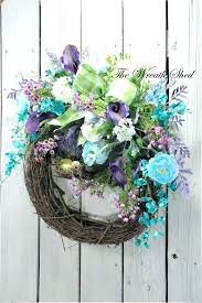 spring wreaths for front door spring wreath for front door a spring wreaths front door wreath back