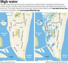 Map Of Florida East Coast Beaches by Miami Beach U0027s Battle To Stem Rising Tides Miami Herald