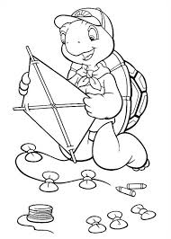 franklin turtle beautiful kite coloring pages batch