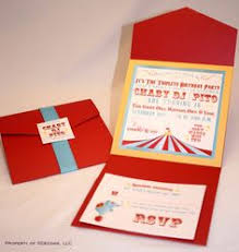 circus tent invitation folder circus carnival by mypaperplanet