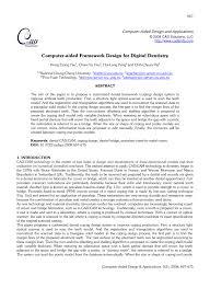 computer aided framework design for digital dentistry pdf
